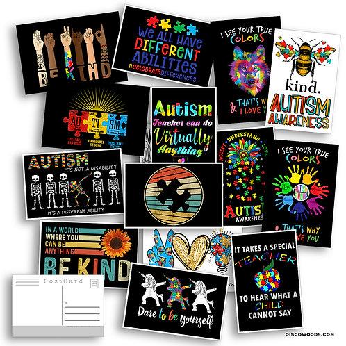 Autism Awareness Set - Set of 20 Postcards - Autism - Teacher Gifts -