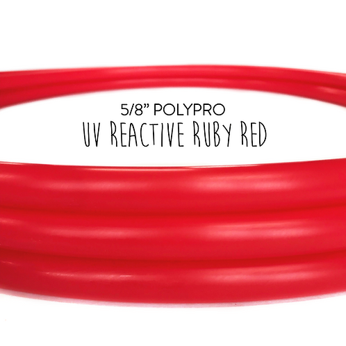 "5/8"" UV Reactive Ruby Red Polypro Hula Hoop"