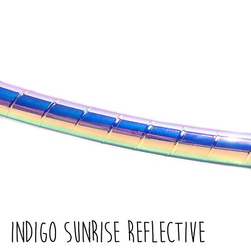 Indigo Sunrise Reflective Taped Hula Hoop