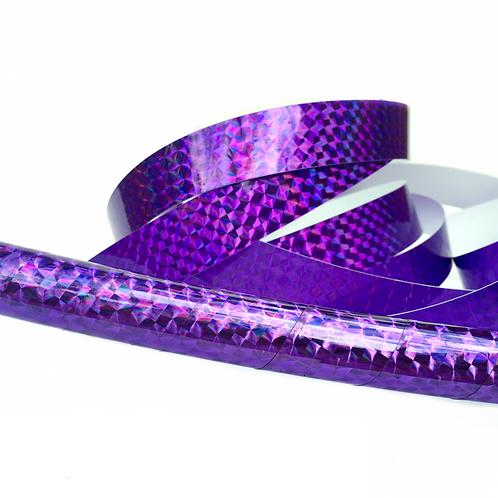 Purple Amethyst Prism Taped Hula Hoop