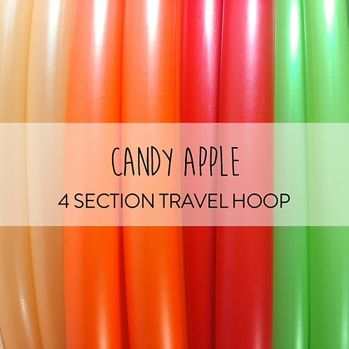 Candy Apple 4 Section Travel Hula Hoop