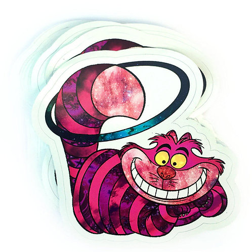 Hooping Cheshire Cat Vinyl Decal Sticker