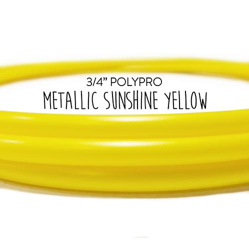 "3/4"" Metallic Sunshine Yellow Polypro Hula Hoop"