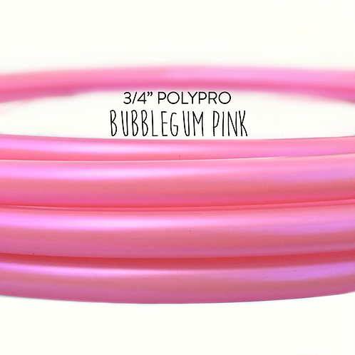 "3/4"" Bubblegum Pink Polypro Hula Hoop"