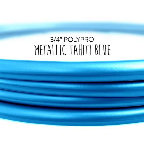 "3/4"" Metallic Tahiti Blue Polypro Hula Hoop"
