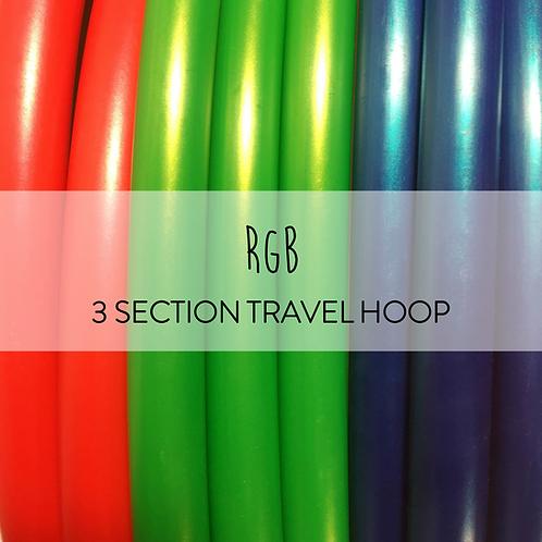 RGB 3 Section Travel Hula Hoop