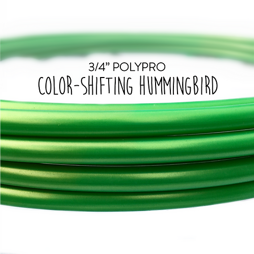 """3/4"""" Color-shifting Hummingbird Polypro Hula Hoop"""