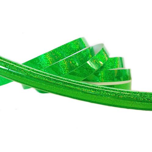 Fluorescent Green Glitter Taped Hula Hoop