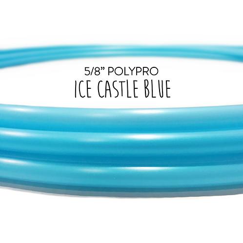 "5/8"" Metallic Ice Castle Blue Polypro Hula Hoop"