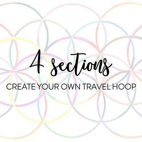 Custom 4 Section Travel Hula Hoop