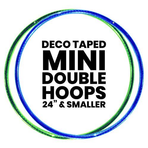 Custom Deco Taped Mini Double Hoops