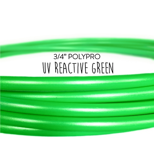 "3/4"" UV Reactive Green Polypro Hula Hoop"