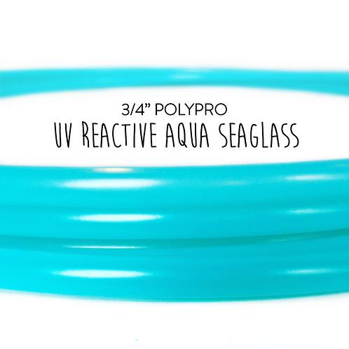 "3/4"" UV Reactive Aqua Seaglass Polypro Hula Hoop"