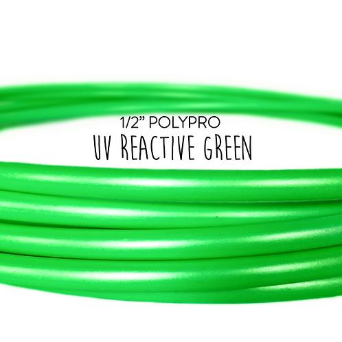 "1/2"" UV Reactive Green Polypro Hula Hoop"