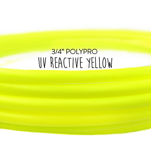 "3/4"" UV Reactive Yellow Polypro Hula Hoop"