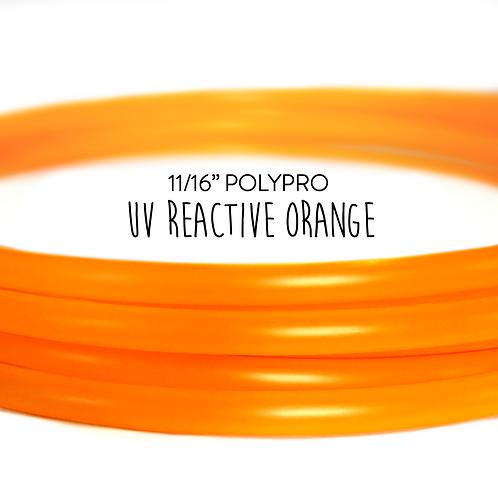 "11/16"" UV Reactive Orange Polypro Hula Hoop"