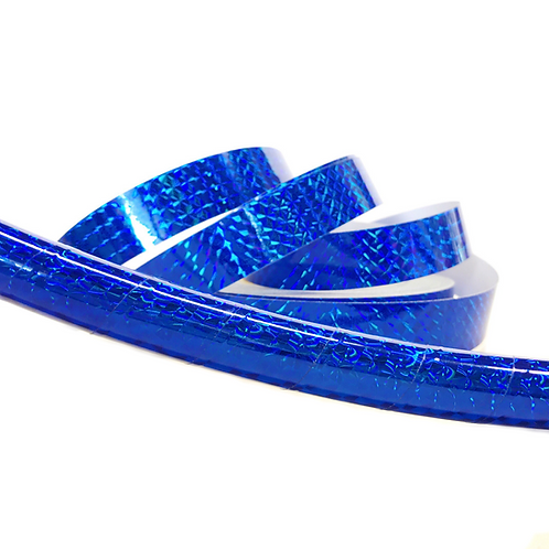 Blue Sapphire Prism Taped Hula Hoop