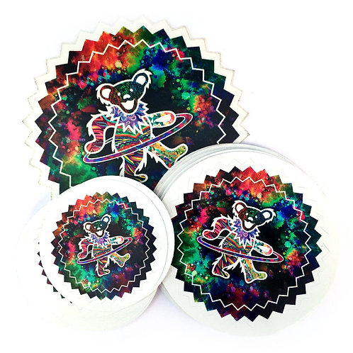 Hooping Grateful Dead Bear Vinyl Decal Sticker
