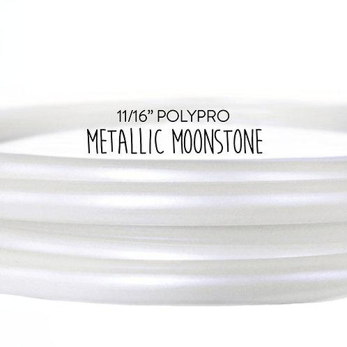 """11/16"""" Metallic Moonstone Polypro Hula Hoop"""