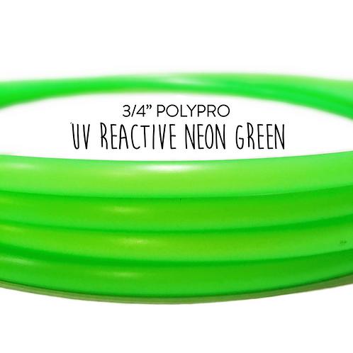 "3/4"" UV Reactive Neon Green Polypro Hula Hoop"