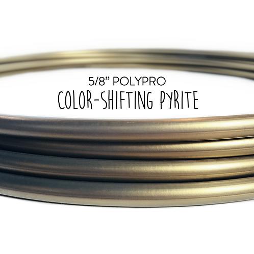 """5/8"""" Color-shifting Pyrite Polypro Hula Hoop"""
