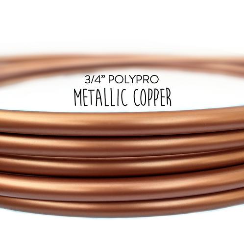 "3/4"" Metallic Copper Polypro Hula Hoop"