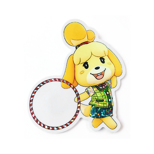 Holographic Glitter AC Isabelle Sticker