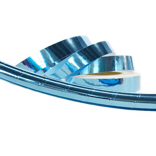 Ice Blue Mirror Taped Hula Hoop