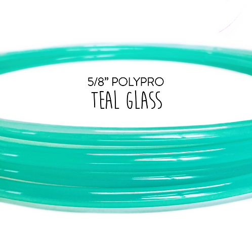 "5/8"" Teal Glass Polypro Hula Hoop"