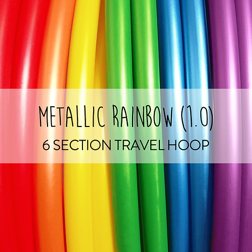 Metallic Rainbow (1.0) 6 Section Travel Hula Hoop