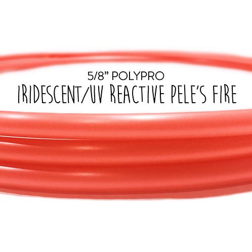 """5/8"""" Pele's Fire Polypro Hula Hoop"""