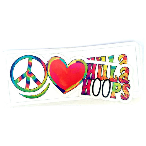Peace, Love & Hula Hoops Vinyl Decal Sticker