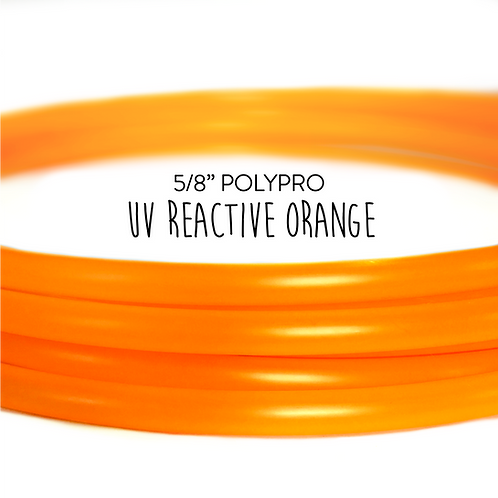 "5/8"" UV Reactive Orange Polypro Hula Hoop"