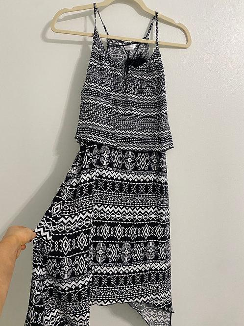 Black & White Printed Dress (M)