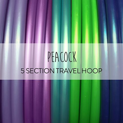 Peacock 5 Section Travel Hula Hoop