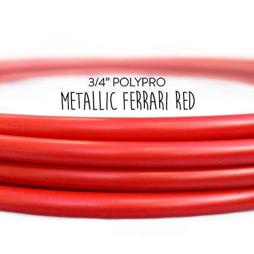 "3/4"" Metallic Ferrari Red Polypro Hula Hoop"