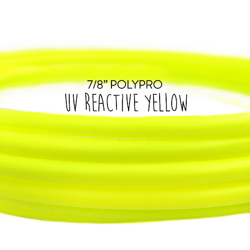 "7/8"" UV Reactive Yellow Polypro Hula Hoop"