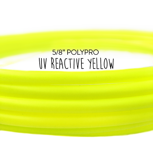 "5/8"" UV Reactive Yellow Polypro Hula Hoop"