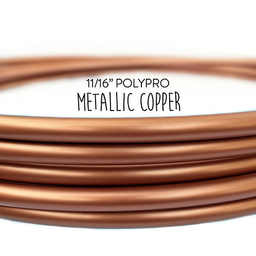 "11/16"" Metallic Copper Polypro Hula Hoop"