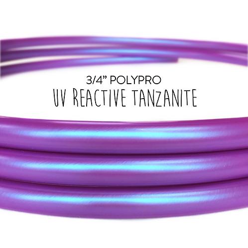 """3/4"""" UV Reactive Tanzanite Polypro Hula Hoop"""
