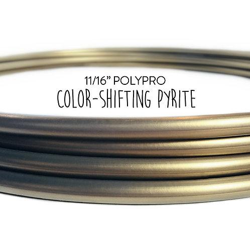 """11/16"""" Color-shifting Pyrite Polypro Hula Hoop"""