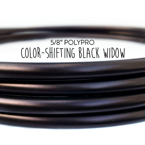 "5/8"" Black Widow Polypro Hula Hoop"
