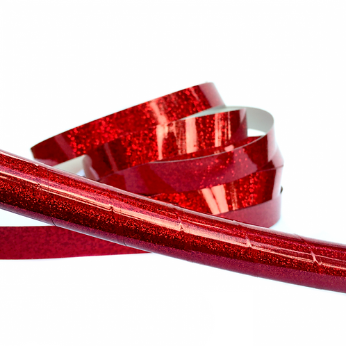 Ruby Red Glitter Taped Hula Hoop