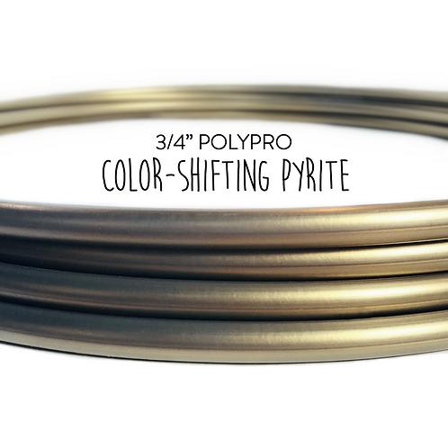 """3/4"""" Color-shifting Pyrite Polypro Hula Hoop"""