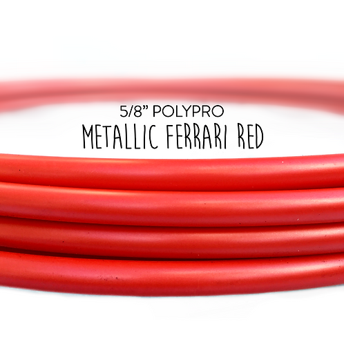 "5/8"" Metallic Ferrari Red Polypro Hula Hoop"