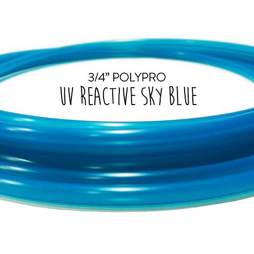 "3/4"" UV Reactive Sky Blue Polypro Hula Hoop"