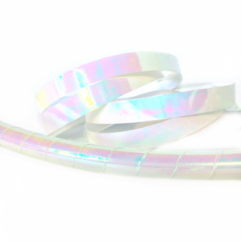 White Pearlescent Taped Hula Hoop