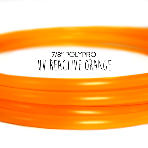 "7/8"" UV Reactive Orange Polypro Hula Hoop"