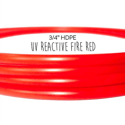"3/4"" UV Reactive Fire Red HDPE Hula Hoop"