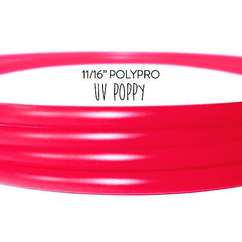 """11/16"""" UV Poppy Polypro Hula Hoop"""